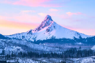 Mt Washington, Oregon, Cascades, Winter, Sunrise, Pacific Northwest, mountain,  volcano