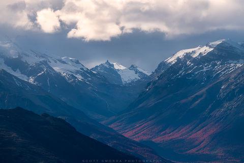 Patagonia, Argentina, waterfalls, lenga, tree, fall, color, Parque Nacional Los Glaciares
