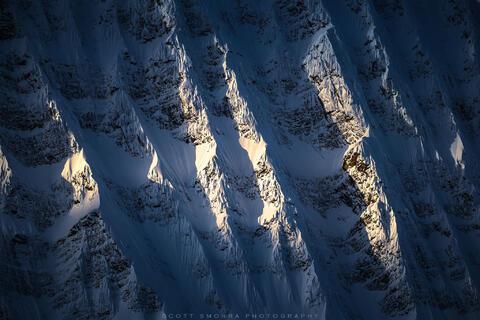 Jasper National Park, Alberta, Canada, Mount Fryatt, sunlight, ridges,
