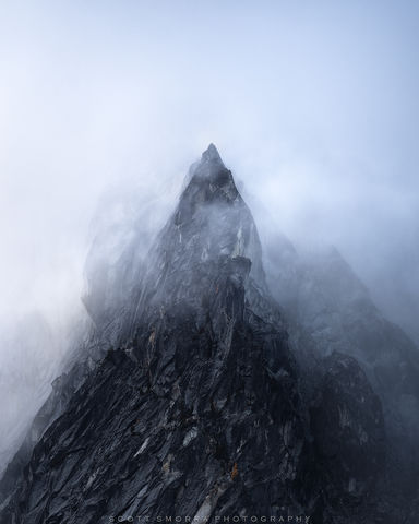 Enchantments, Washington, Cascades, granite, spire, black, white, Alpine, Lakes, Wilderness, Area, fog, clouds, atmosphere