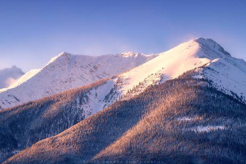 Banff National Park, Canada, mountains, snow, summit, morning, Alberta