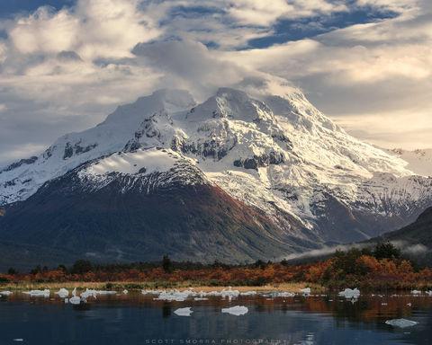 Patagonia, Chile, Fjords, glacier, iceberg, peaks, cove