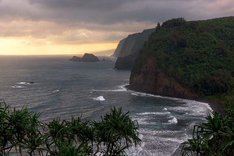 Hawaii, Big Island, Pololu, Valley, sunrise, light