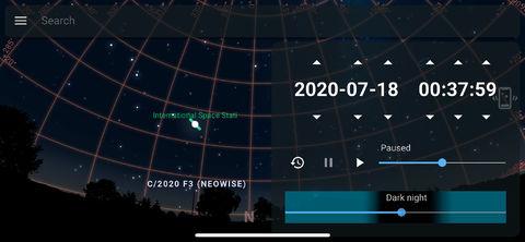 Stellarium-NEOWISE-COMET