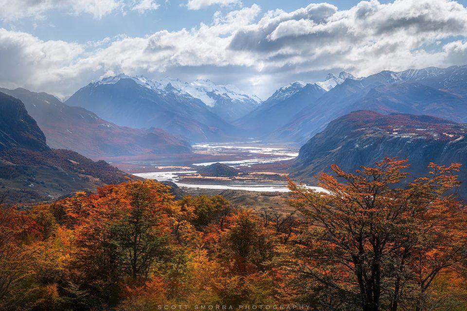 Patagonia, Argentina, El Chalten, fall, autumn, lenga, trees, rio de las vueltas