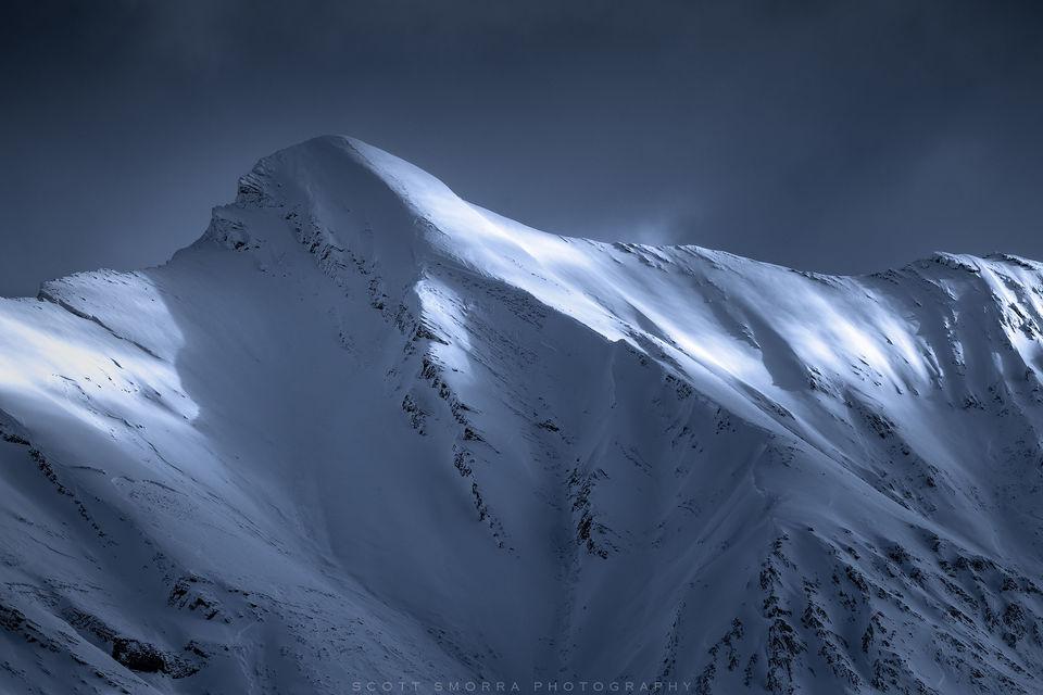 Jasper National Park, Alberta, Canada, mountain, snow, morning, winter