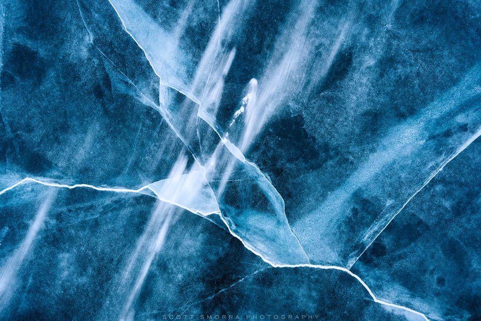 Abraham Lake, Canada, Alberta, Canadian Rockies, ice, cracks, abstract, snow, frozen