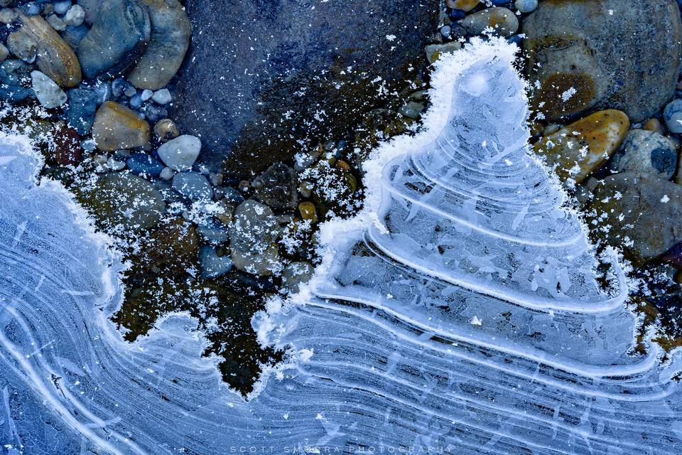 Banff National Park, Canadian Rockies, winter, ice, abstract