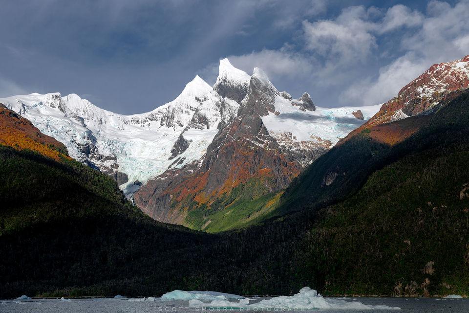 Patagonia, Chile, Fjords, glacier, peaks,