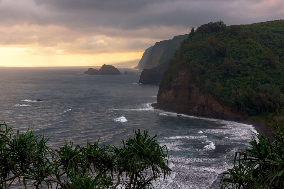 Hawaii, Big Island, Pololu, Valley, sunrise, light