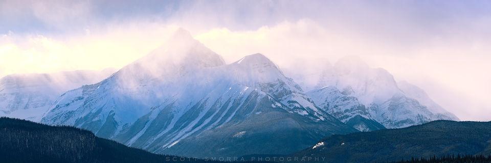 Banff, National Park, Canada, Saskatchewan Crossing, Mountains, panorama, atmospheric, Alberta