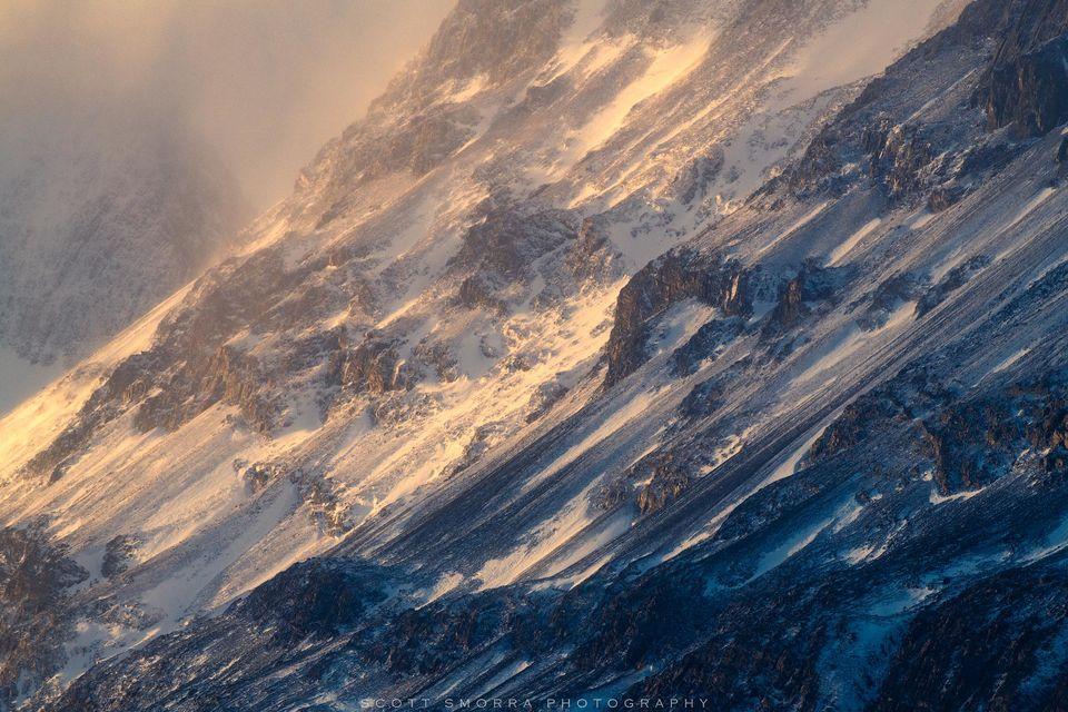 Patagonia, Chile, Parque Nacional Torres del Paine, Grande wind, snow