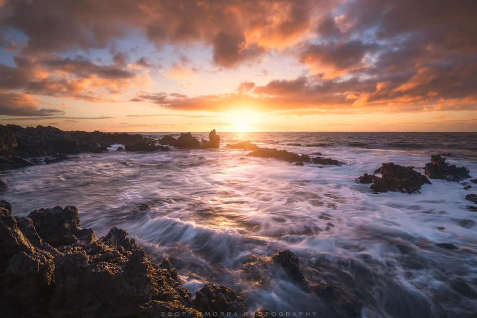 Hawaii, Big Island, Waikoloa, sunset, light, Kona, winds, trade-winds, waves