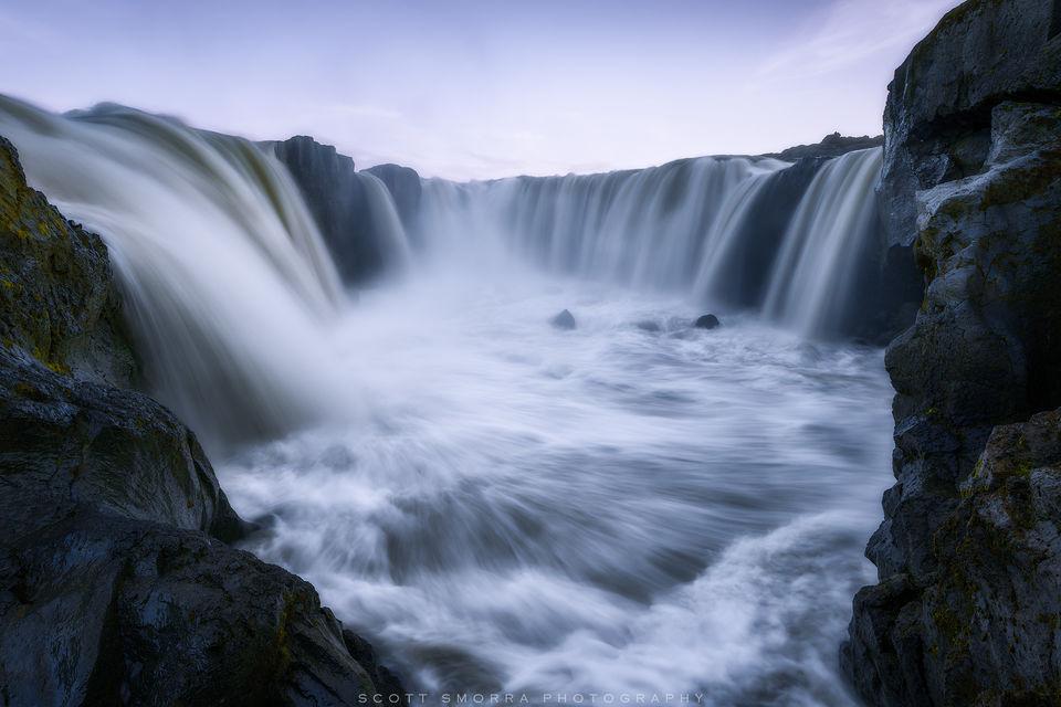 Iceland, Northern, Hrafnabjargafoss, Skjálfandafljót, River, Waterfall