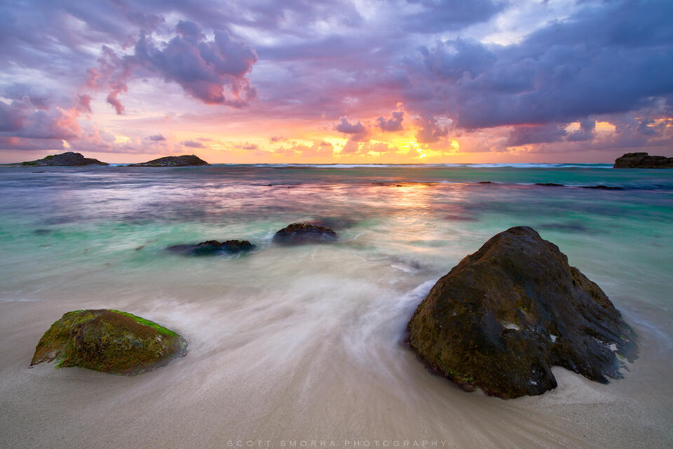 Mexico, Tulum, Riviera Maya, Sunrise, beach, Caribbean, pink,