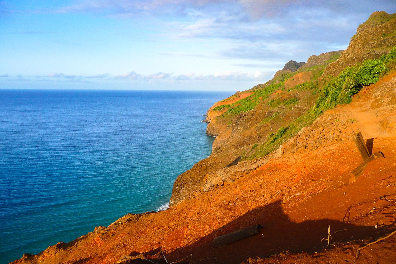 The Kalalau Trail at Red Hill on the Napali Coast of Kaua'i, Hawaii