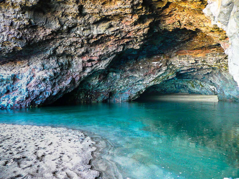 The wet cave at Kalalau Beach, Kaua'i, Hawaii.