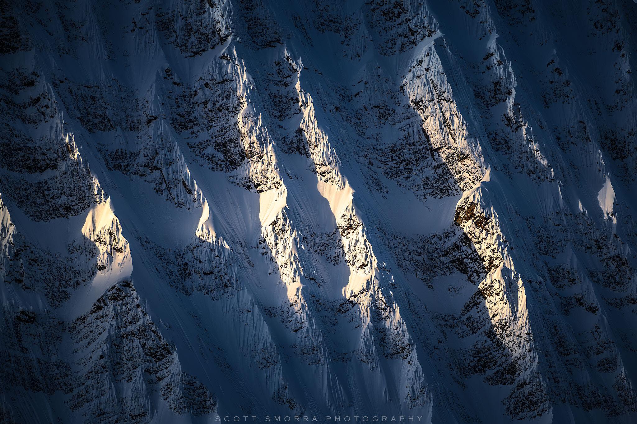 Jasper National Park, Alberta, Canada, Mount Fryatt, sunlight, ridges,, photo