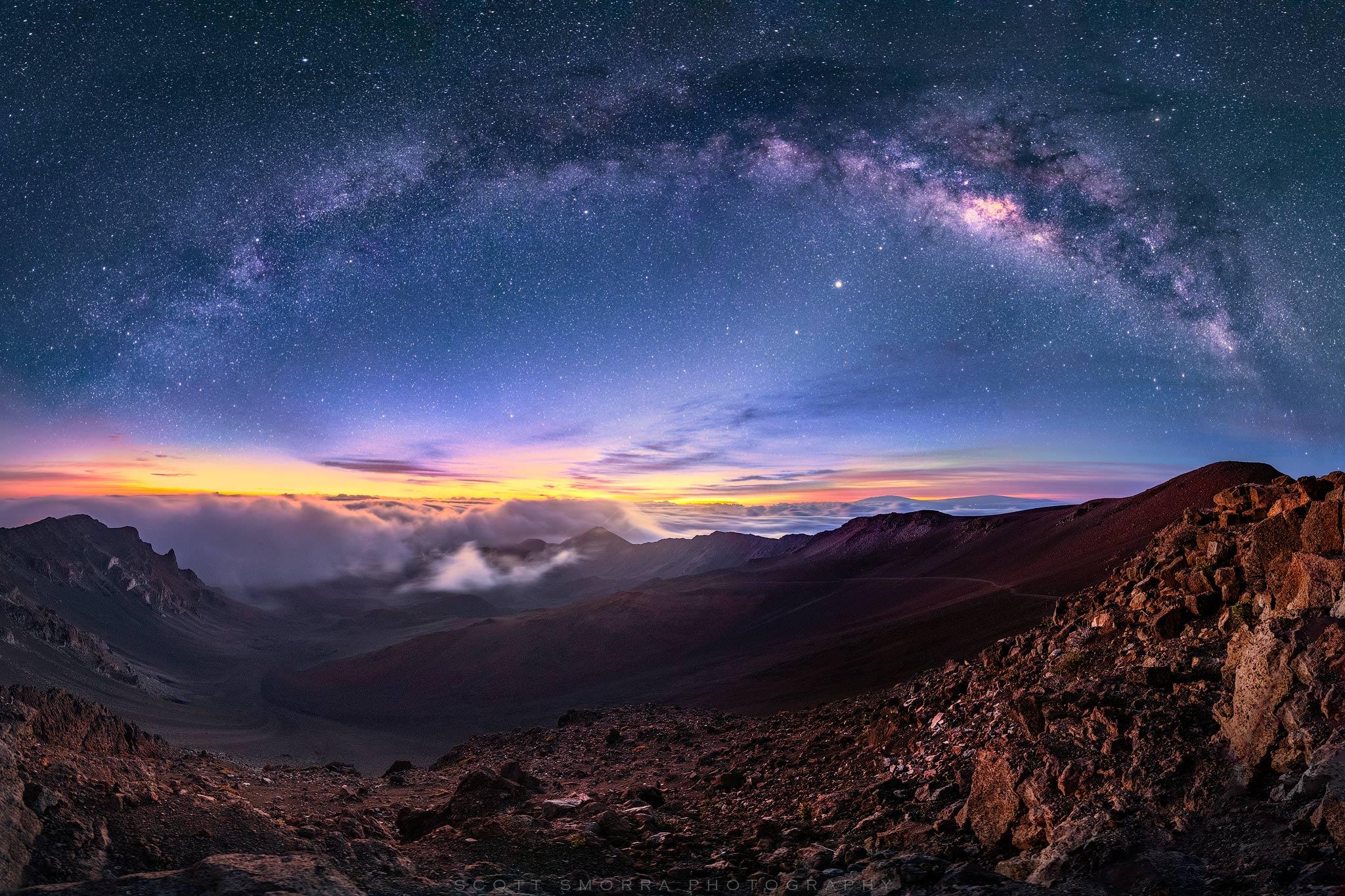 Haleakala Milky Way Sunrise