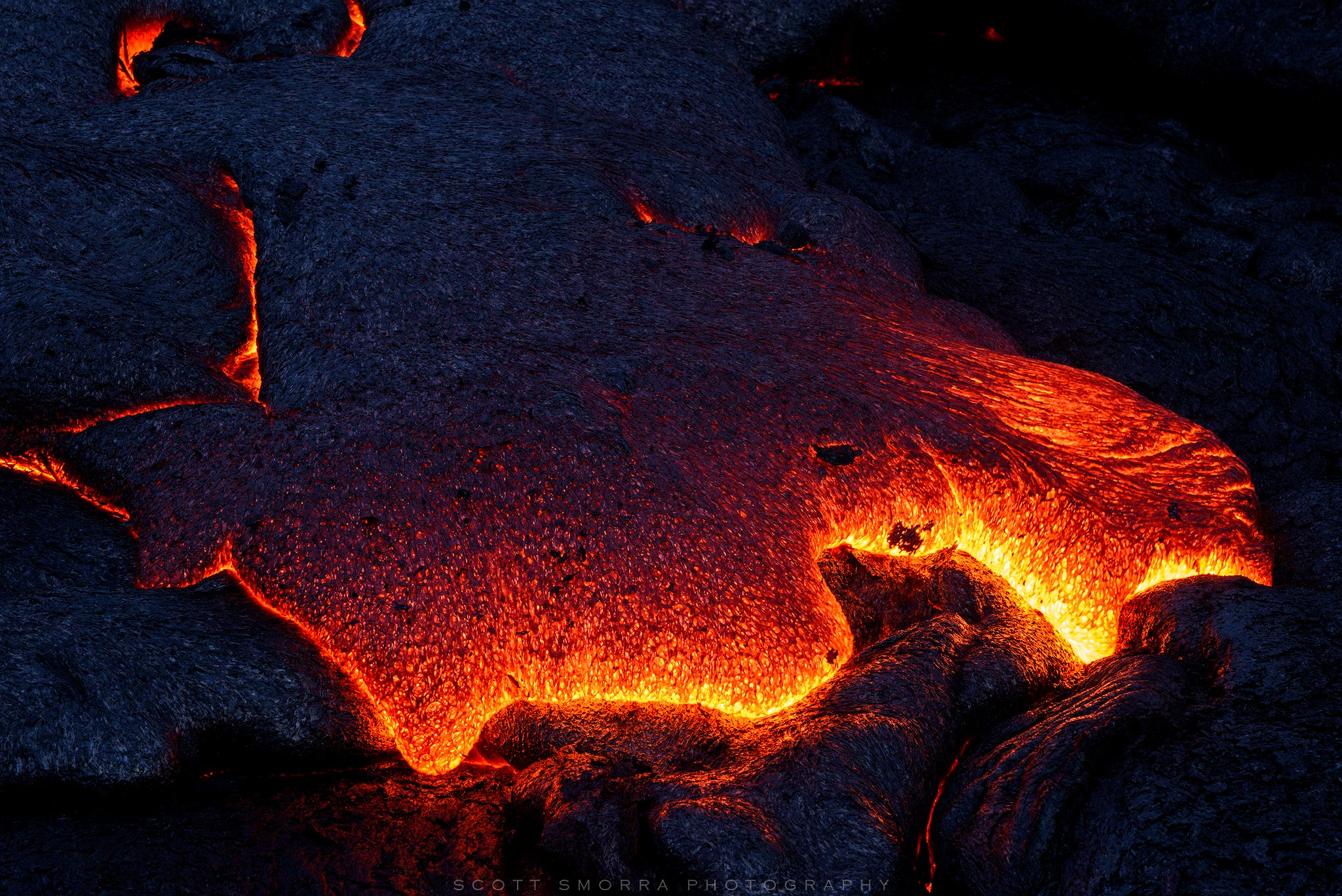 Hawaii, Big Island, Volcanoes National Park, Kilauea, 61G, Lava, flow, glow, photo