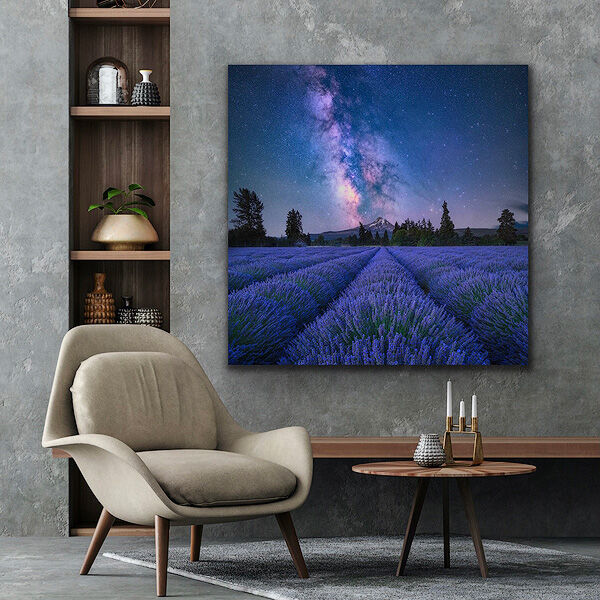 Lavender Dreams TruLife acrylic print artwork on the wall.