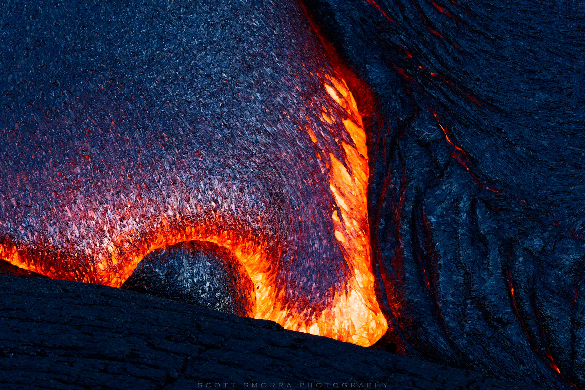 Hawaii, Big Island, Volcanoes National Park, Kilauea, 61G, Lava, flow, photo