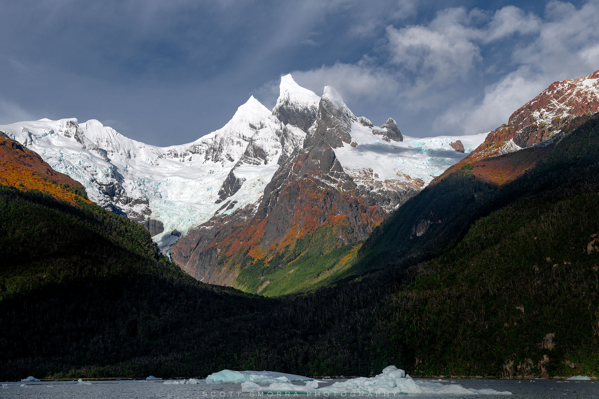 Patagonia, Chile, Fjords, glacier, peaks,, photo