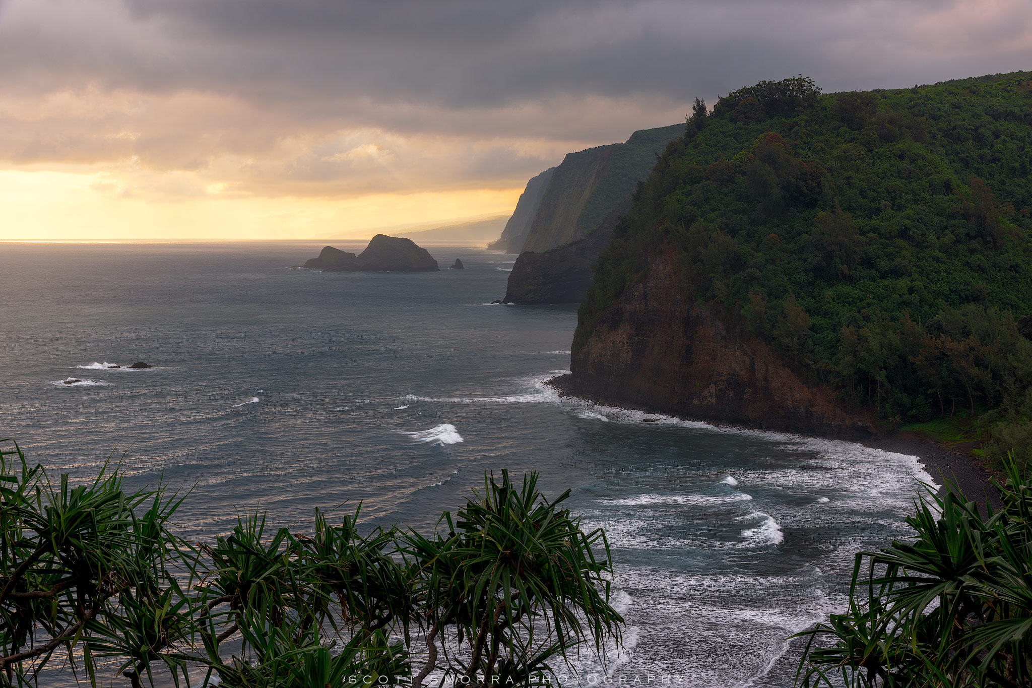 Hawaii, Big Island, Pololu, Valley, sunrise, light, photo